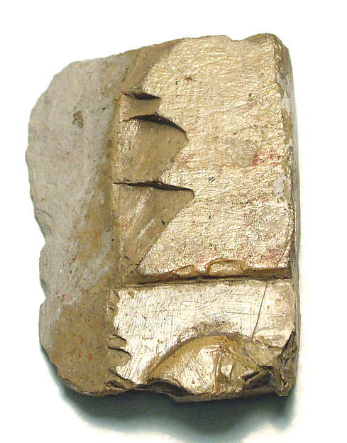 Raised relief fragment, Limestone, varnished