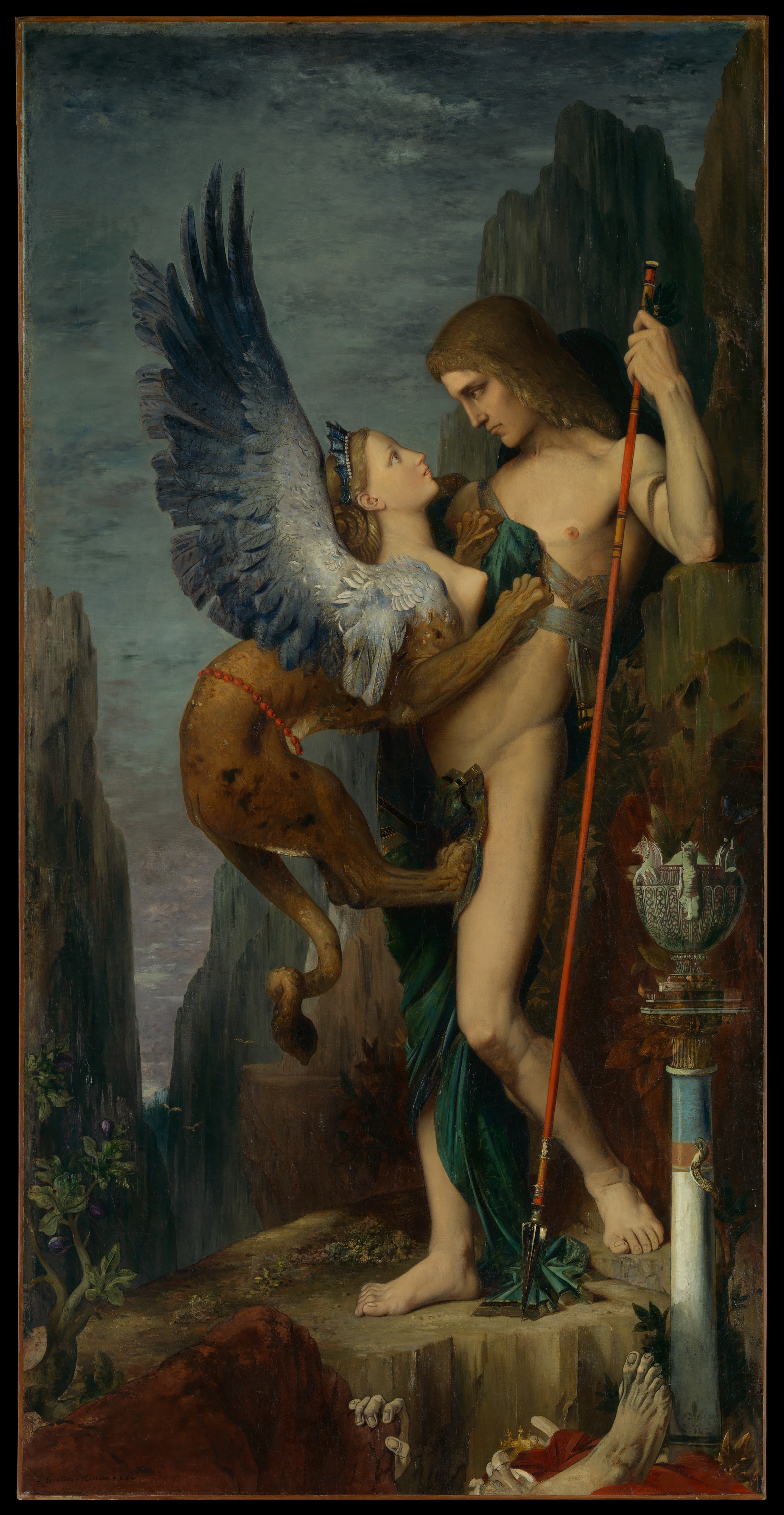 Andrea Bordeaux Nude gustave moreau | oedipus and the sphinx | the met