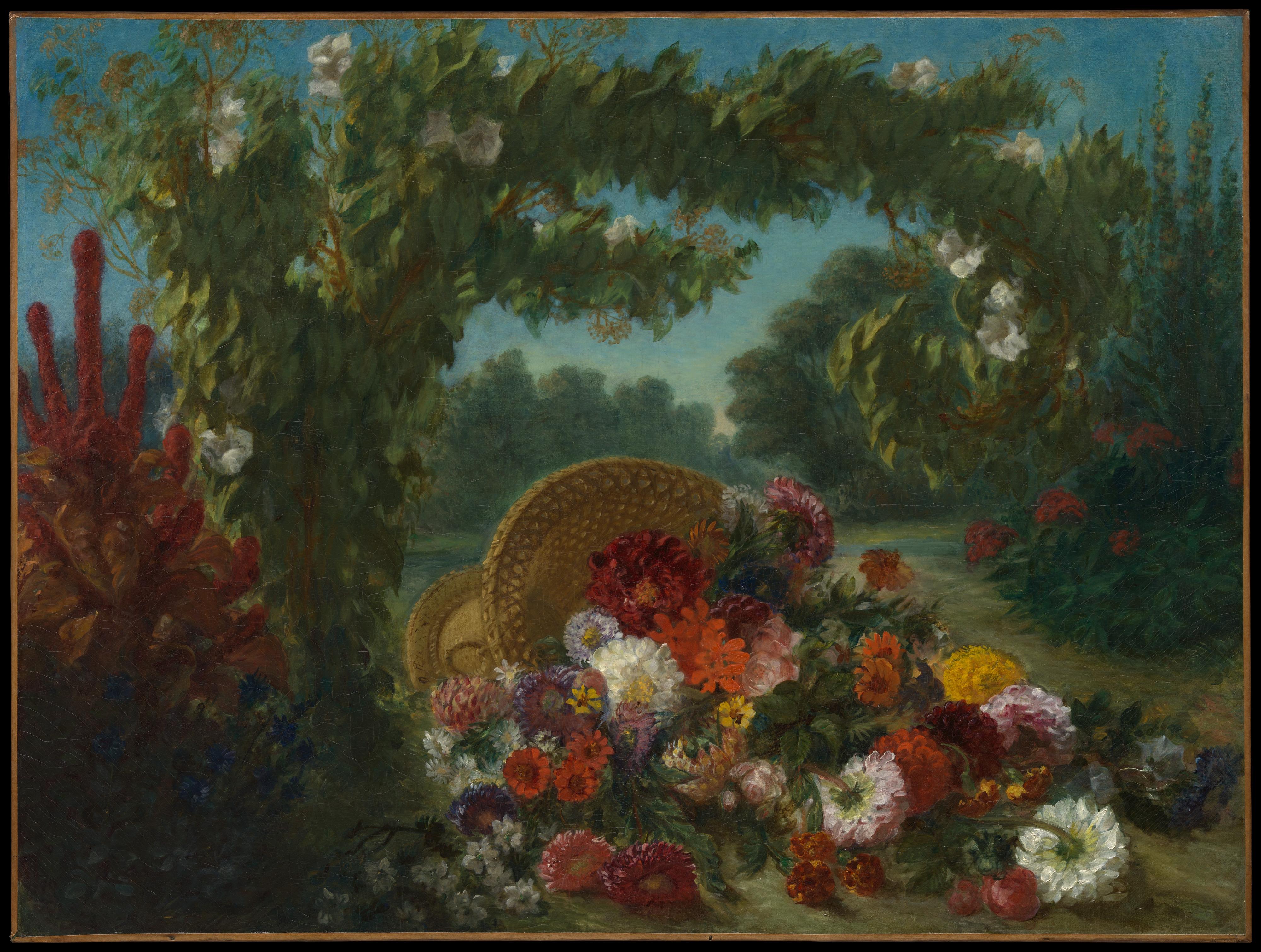 Eugène Delacroix | Basket of Flowers | The Met