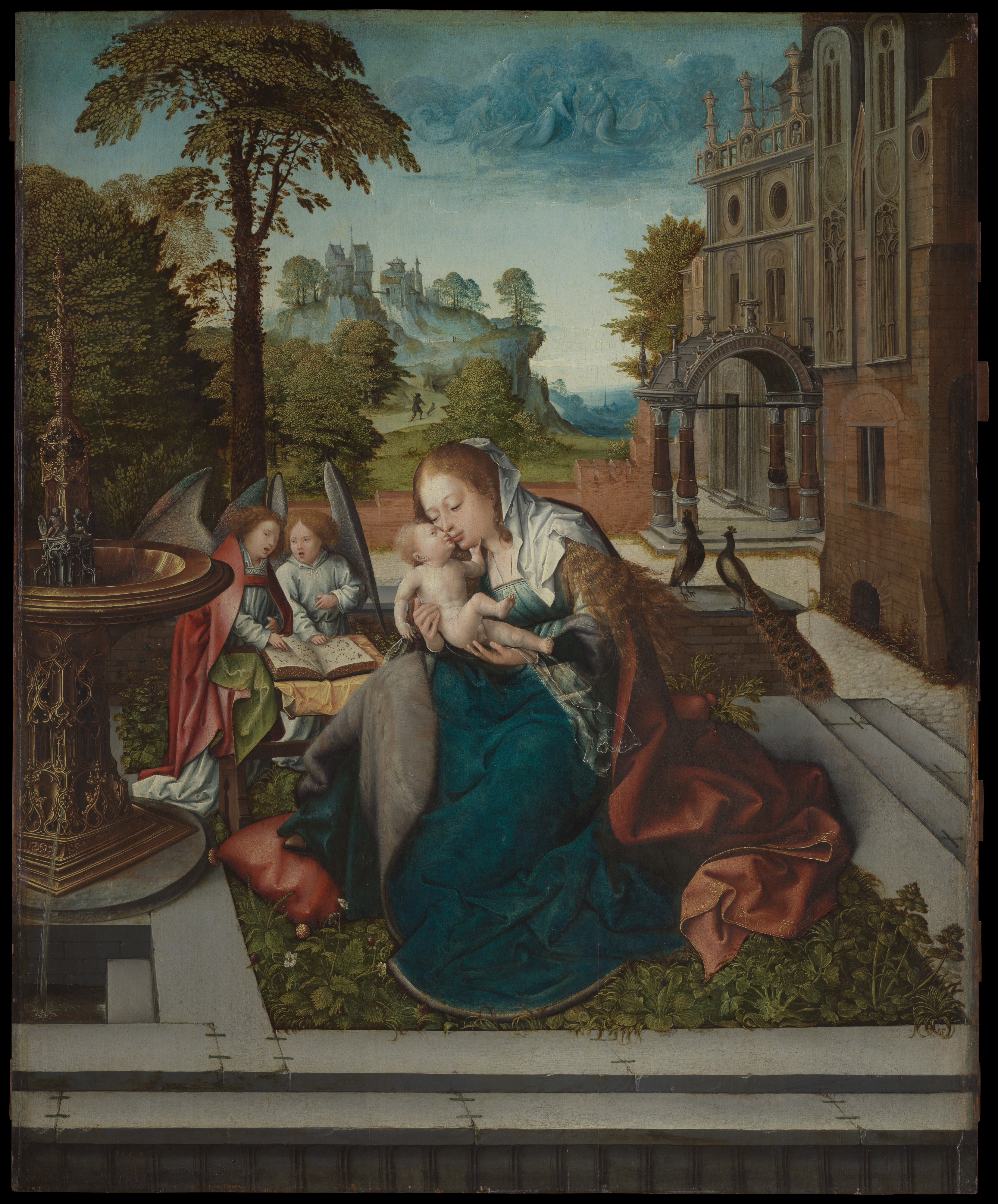 Madison Artist Angela Richardsons Face >> Bernard Van Orley Virgin And Child With Angels The Met