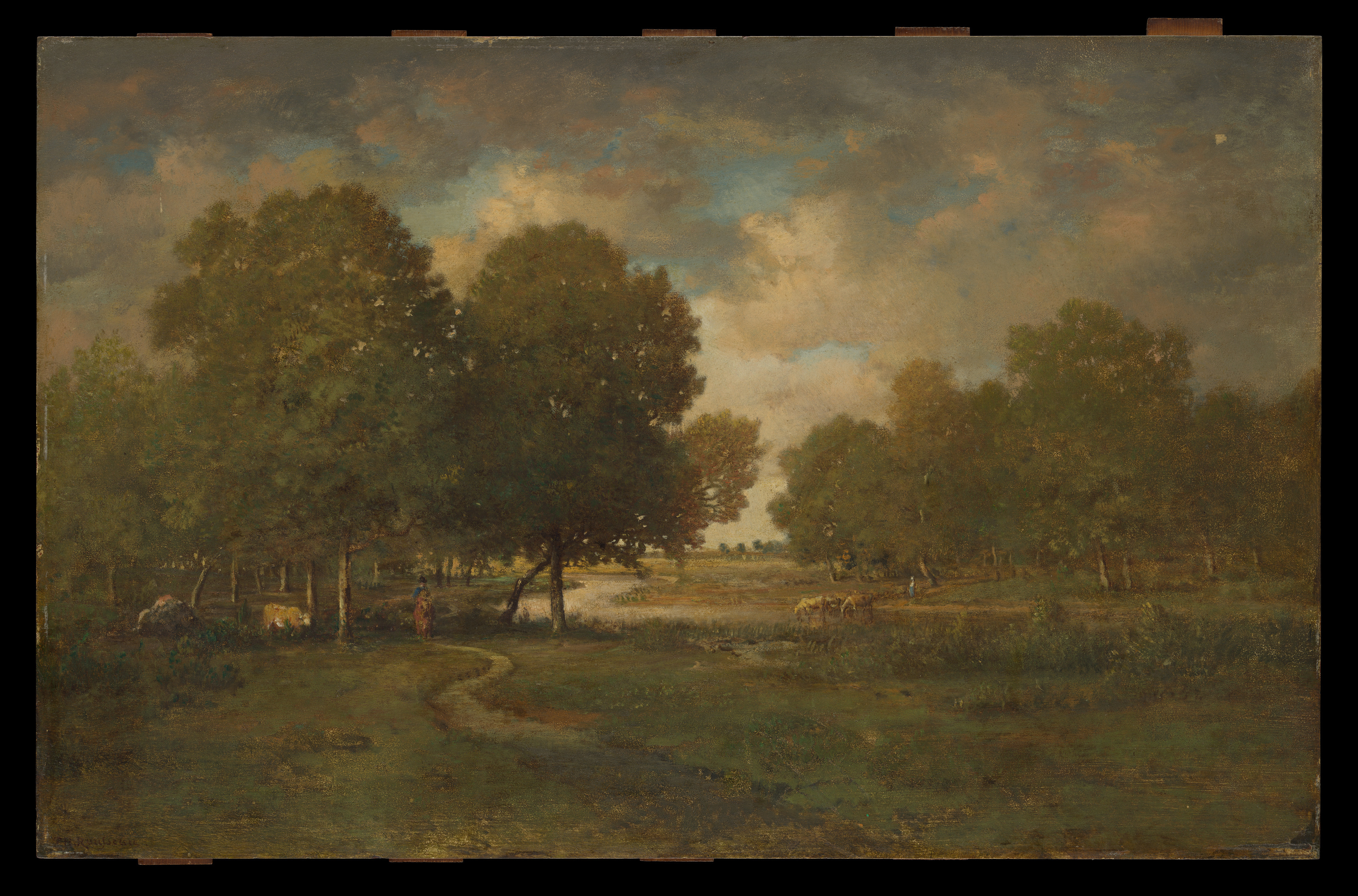Th 233 Odore Rousseau A River In A Meadow The Met
