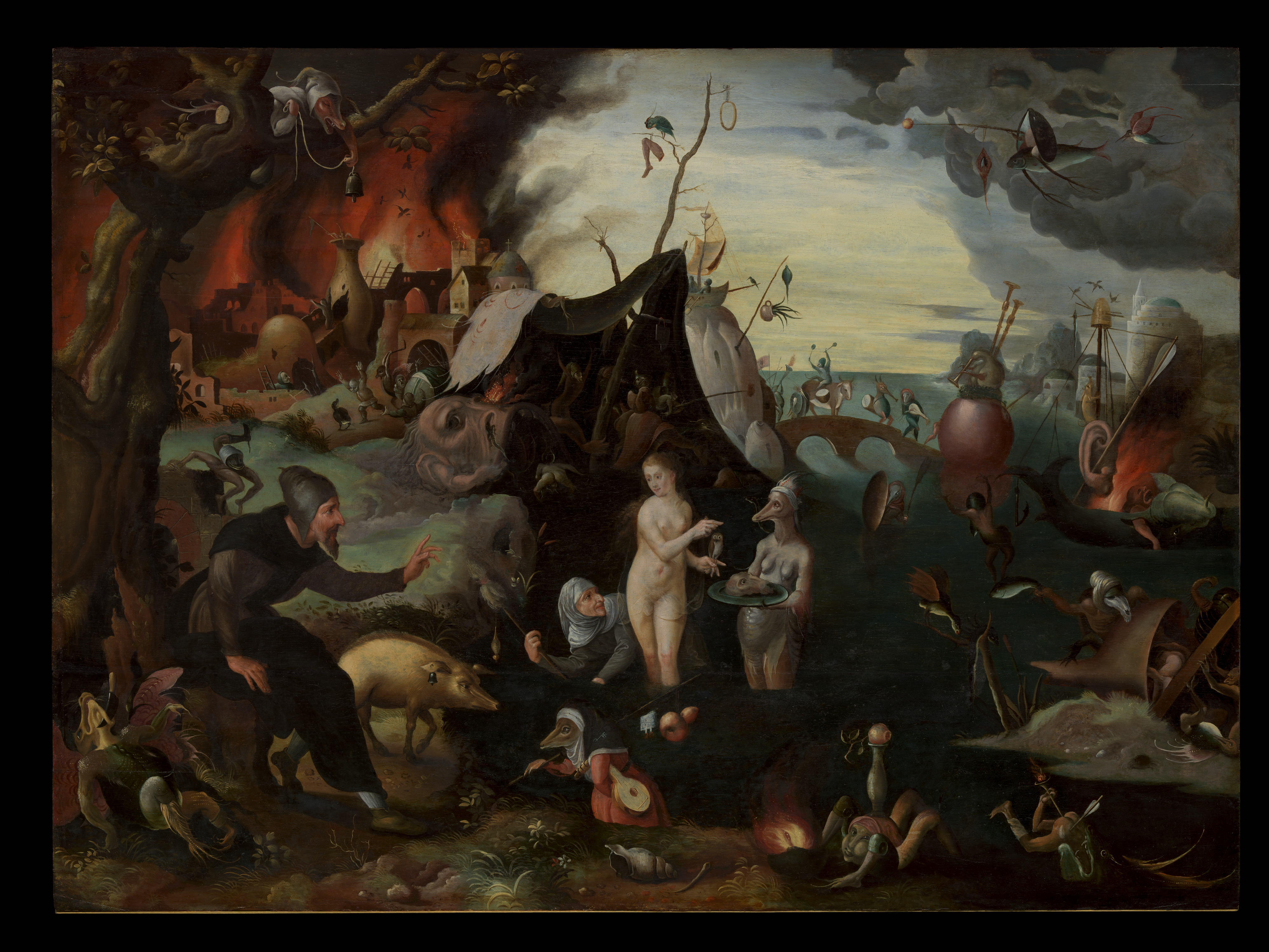 Attributed To Pieter Huys The Temptation Of Saint