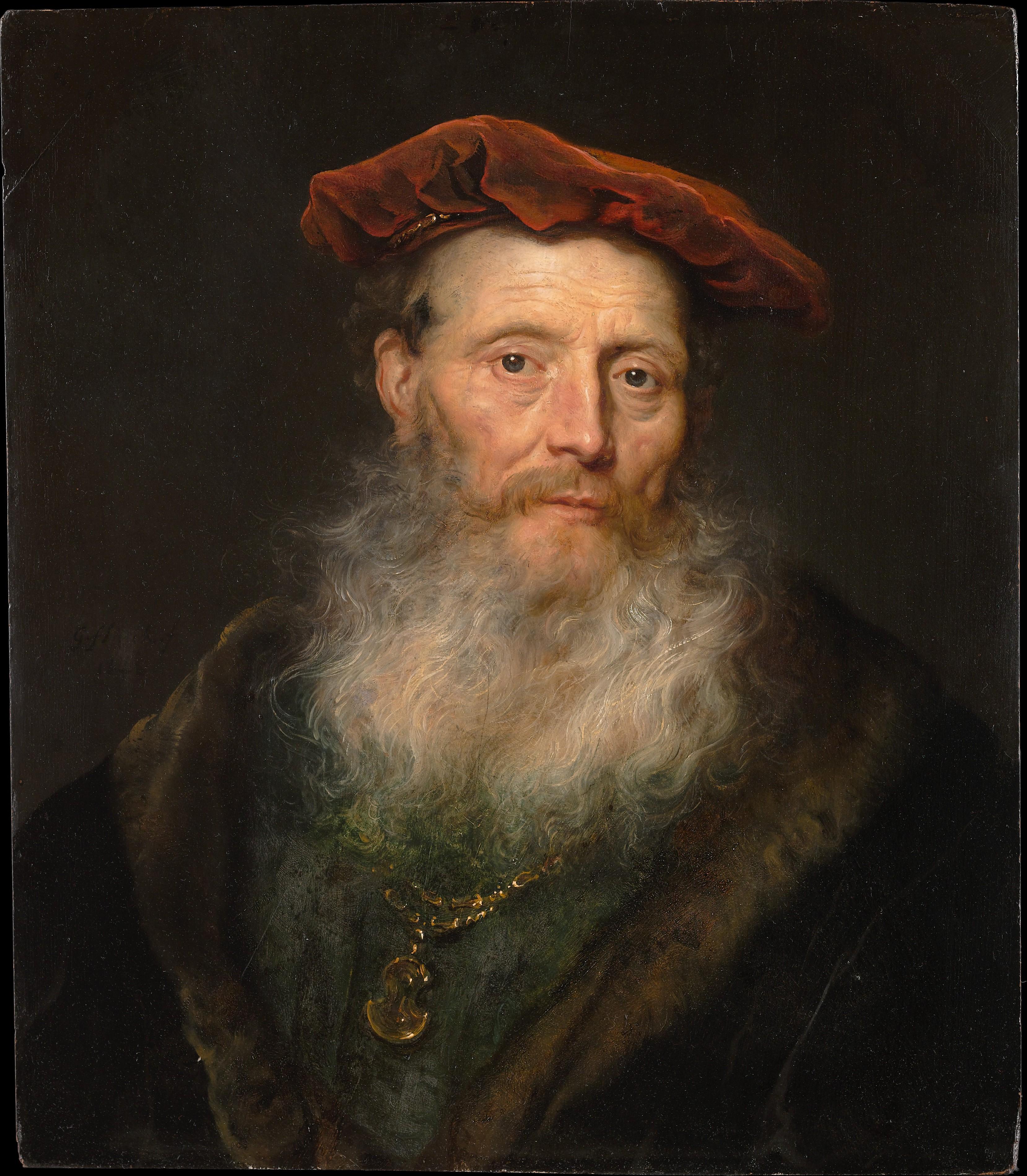Bearded Man with a Velvet Cap, Govert Flinck (Dutch, Cleve 1615–1660 Amsterdam), Oil on wood