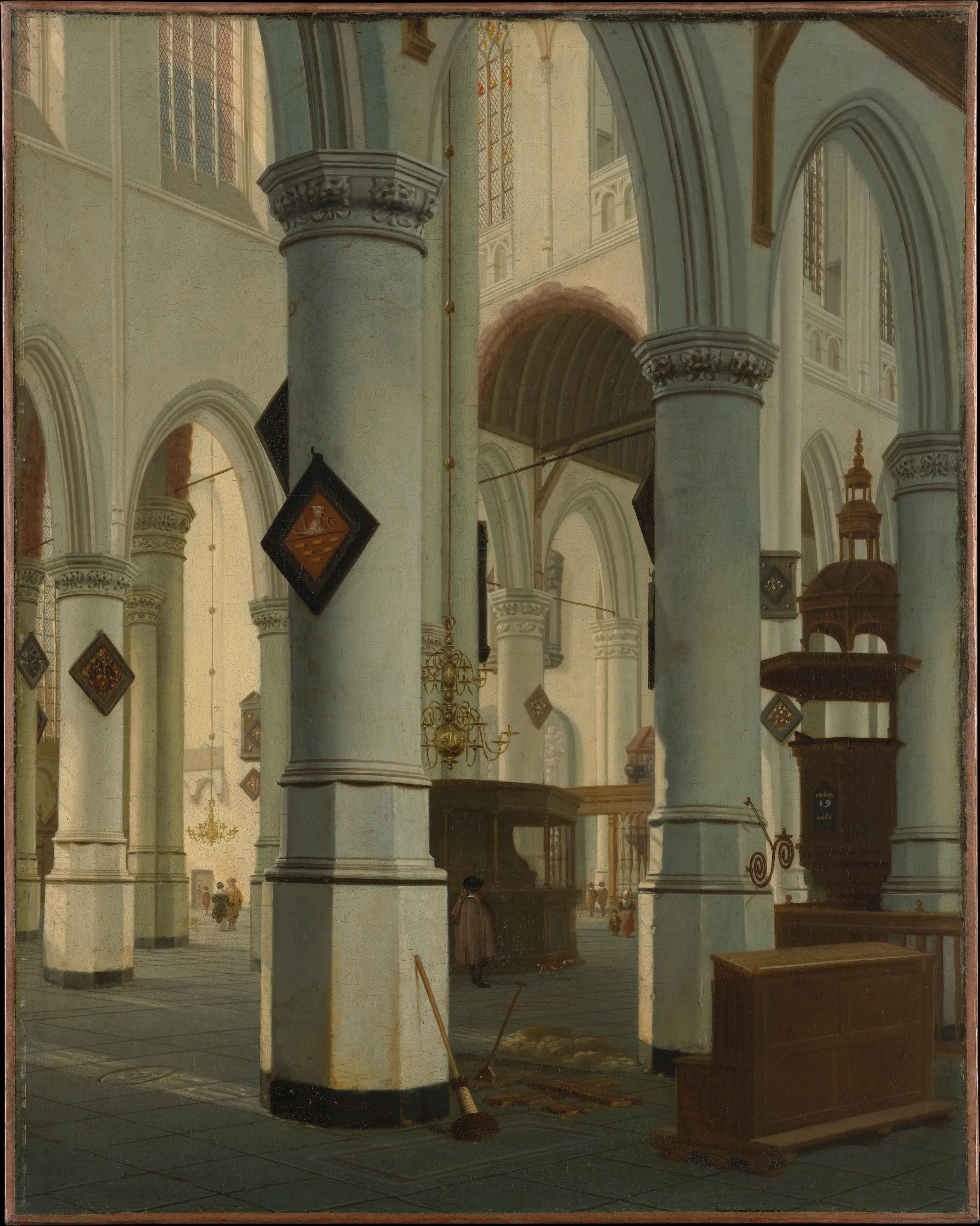 Hendrick van Vliet | Interior of the Oude Kerk, Delft | The Met