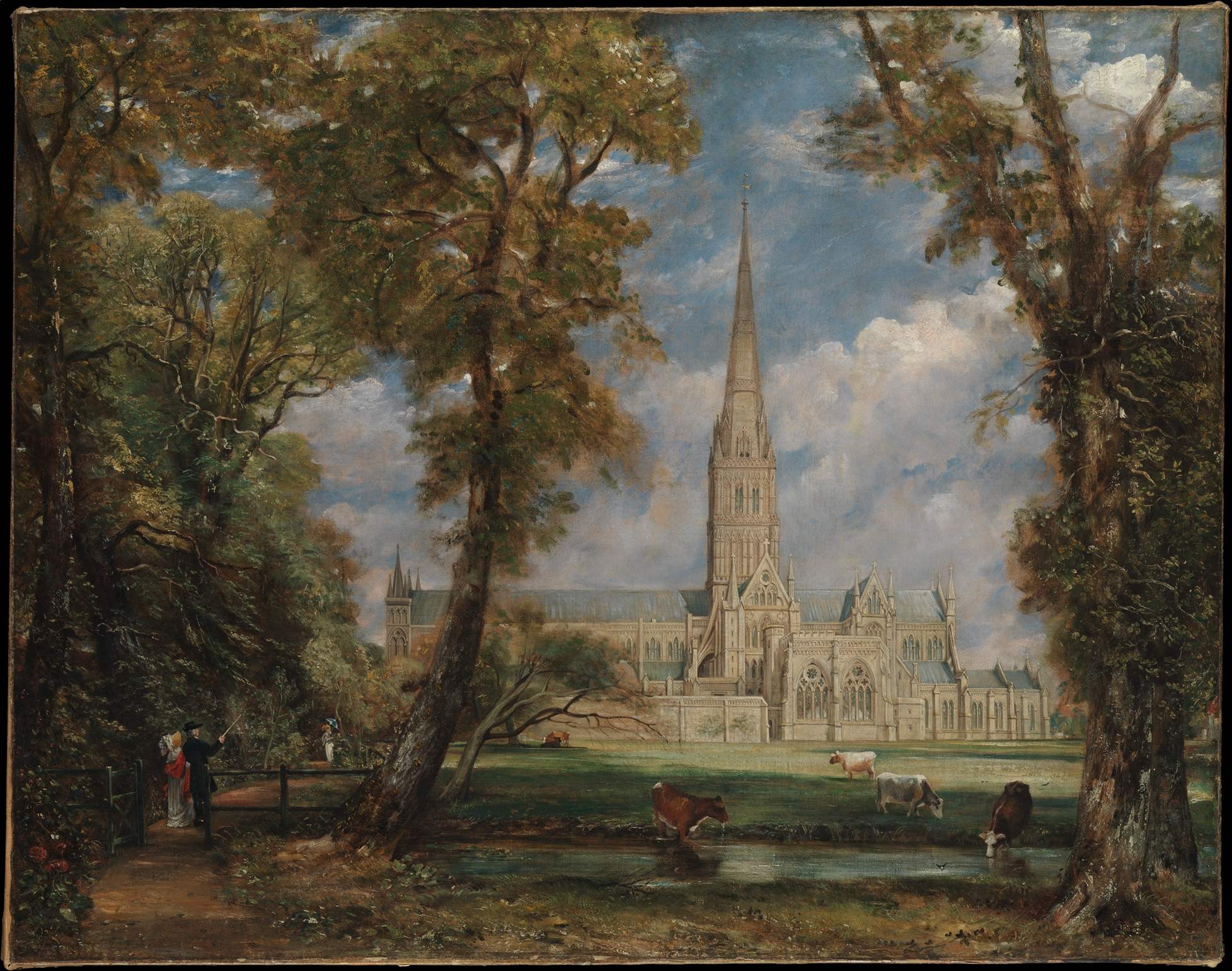 Salisbury Cathedral From The Bishop's