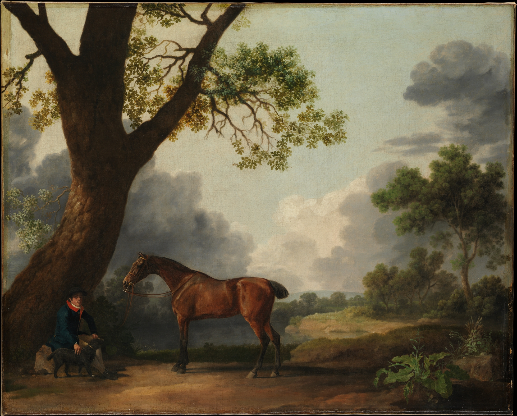 George Stubbs | The Third Duke of Dorset\'s Hunter with a Groom and a ...