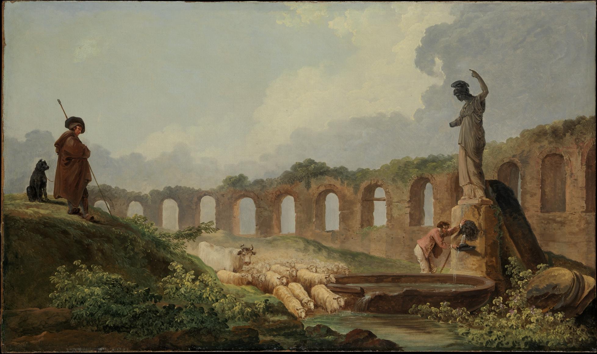 Hubert Robert Aqueduct In Ruins The Met