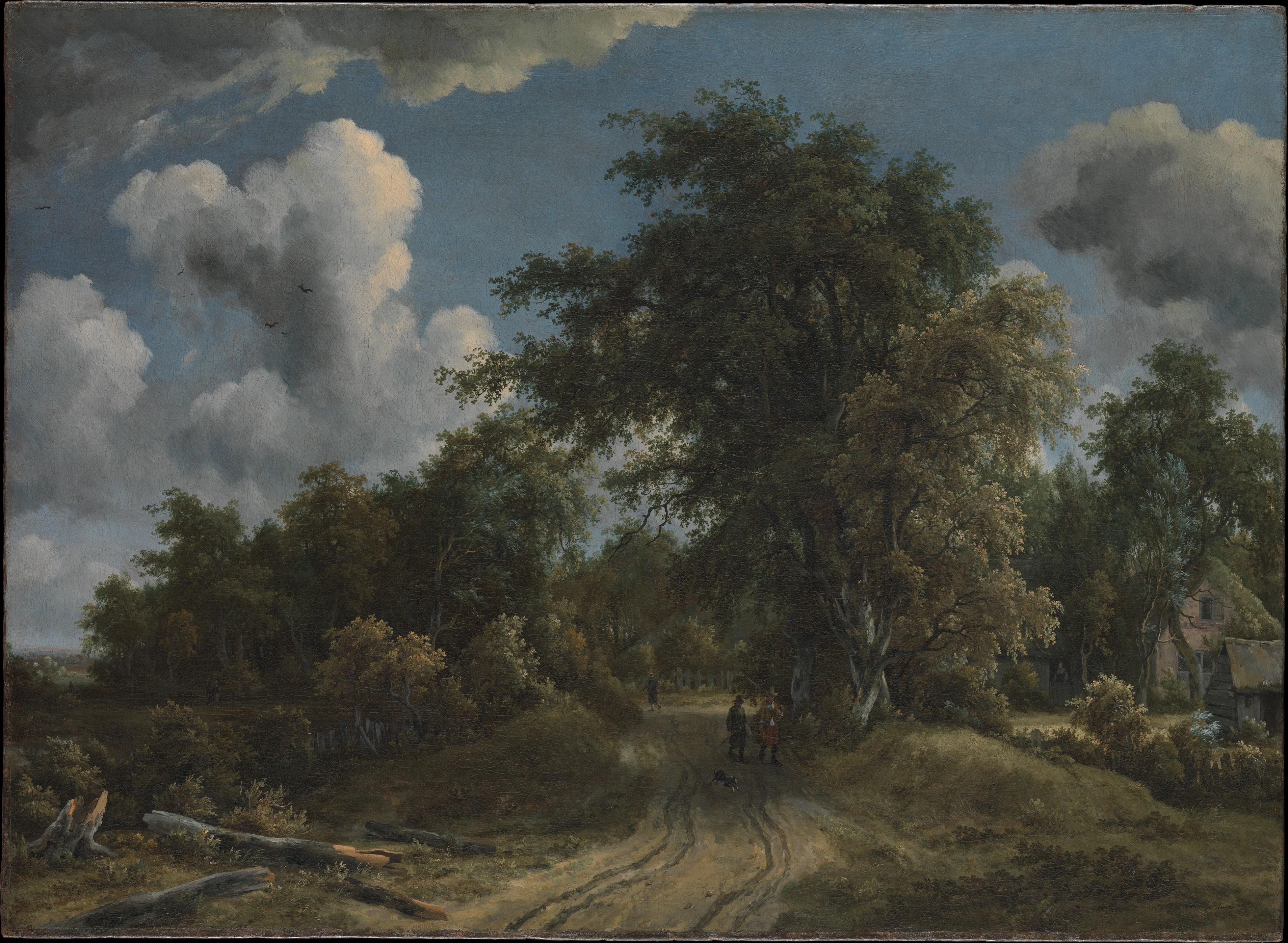 Woodland Road, Meyndert Hobbema (Dutch, Amsterdam 1638–1709 Amsterdam), Oil on canvas