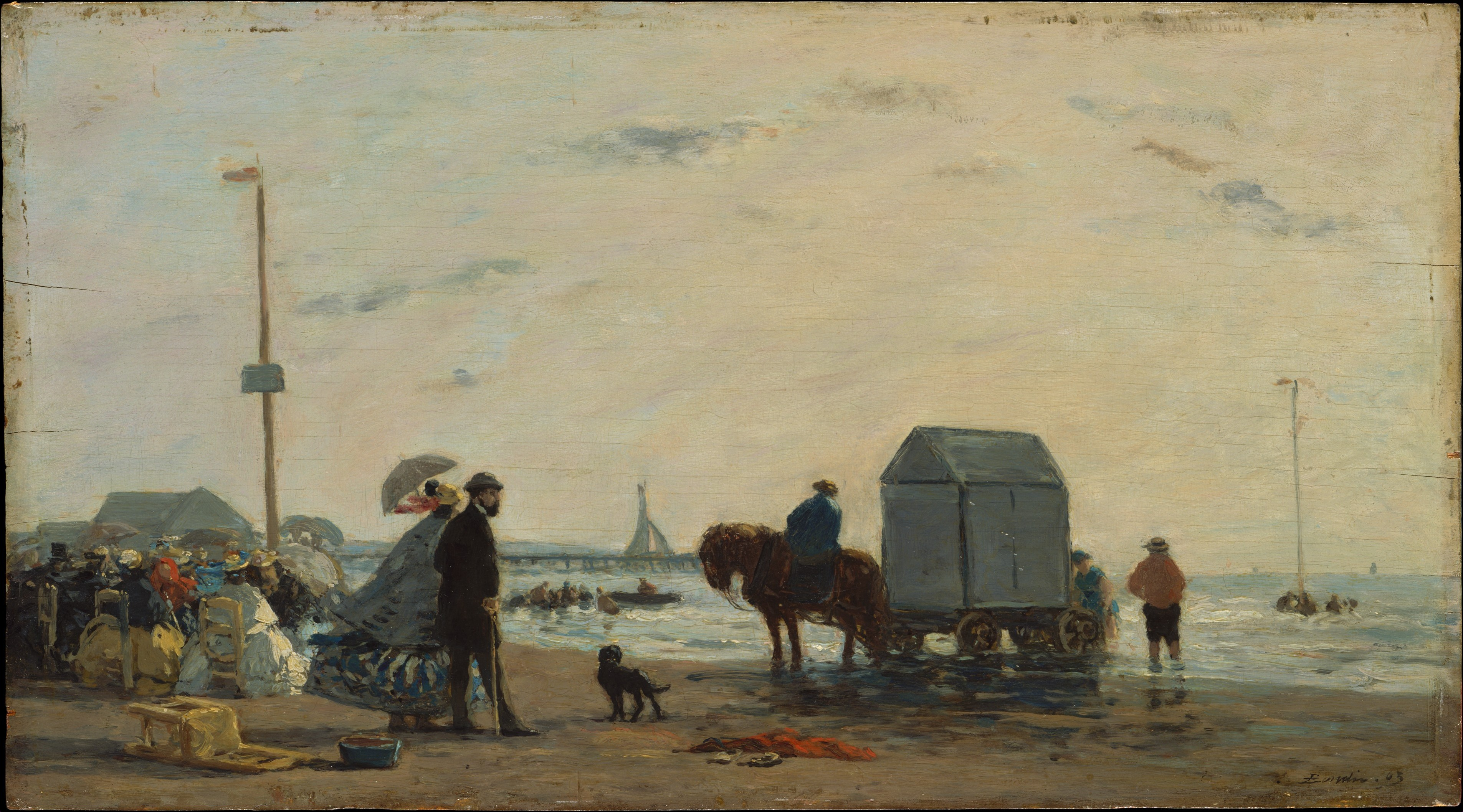 Eug 232 Ne Boudin On The Beach At Trouville The Met