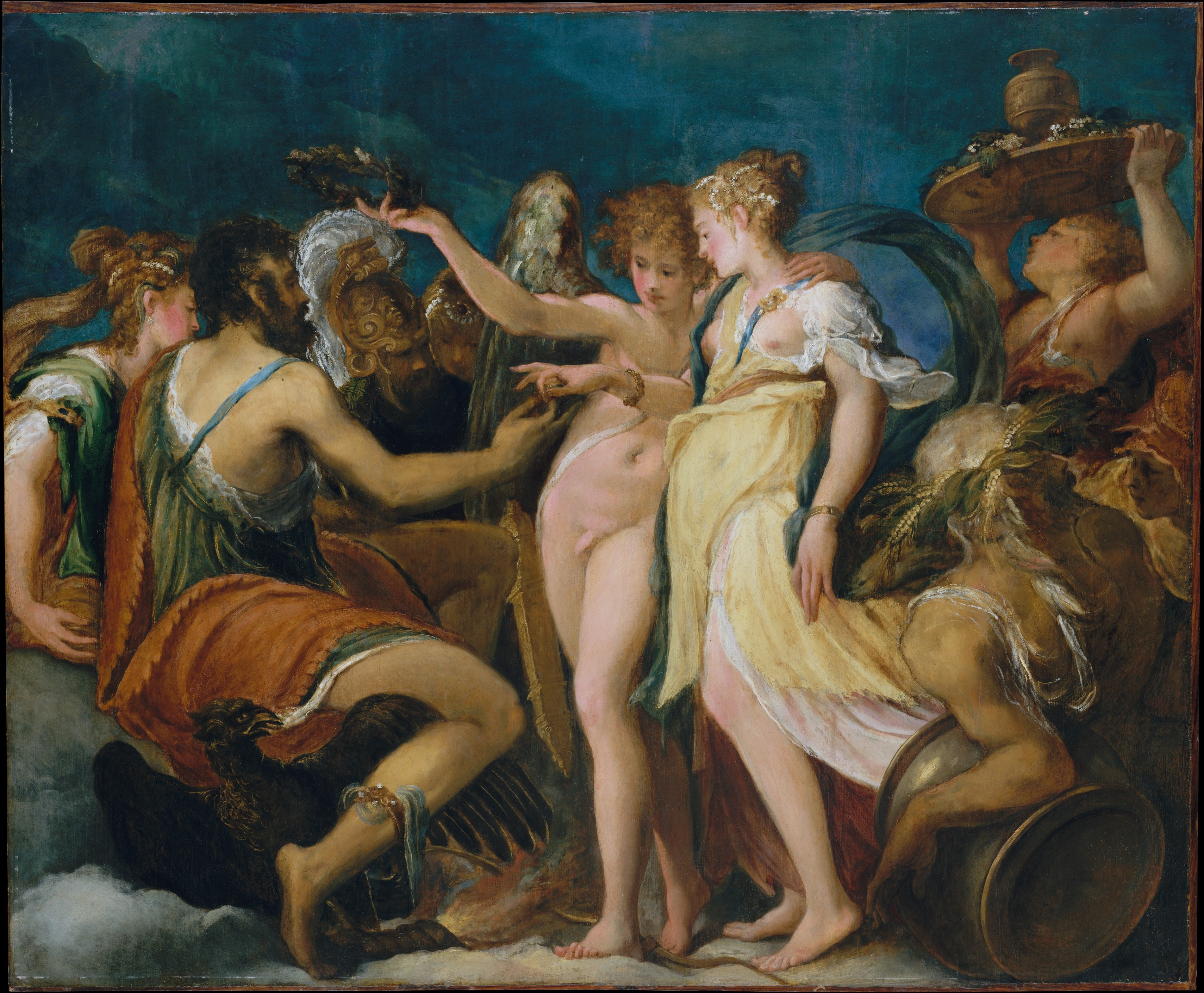 andrea schiavone andrea meldola the marriage of cupid and psyche