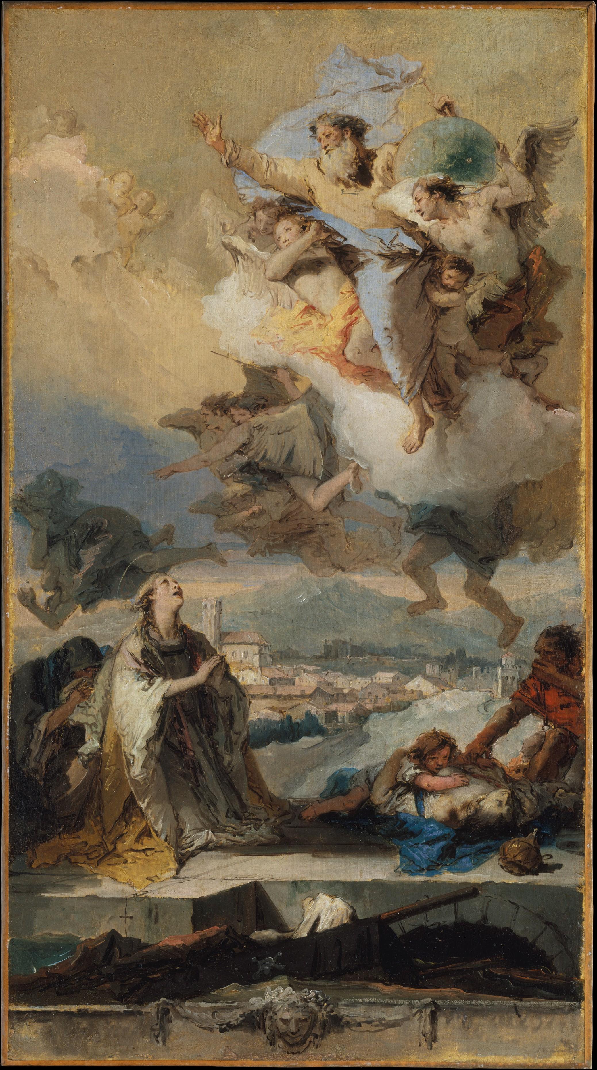Giovanni Battista Tiepolo | Saint Thecla Praying for the Plague ...