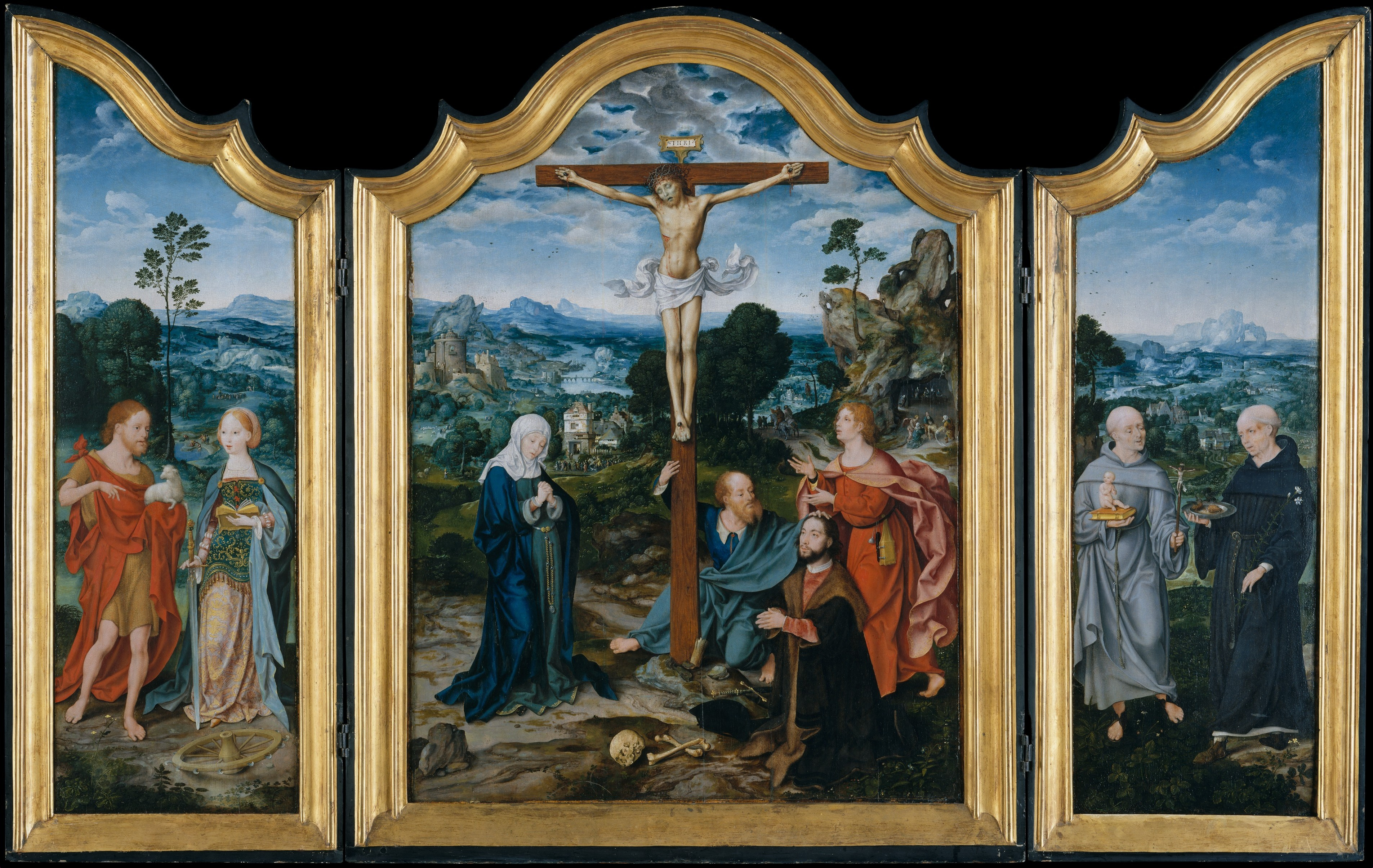 Joos Van Cleve The Crucifixion With Saints And A Donor