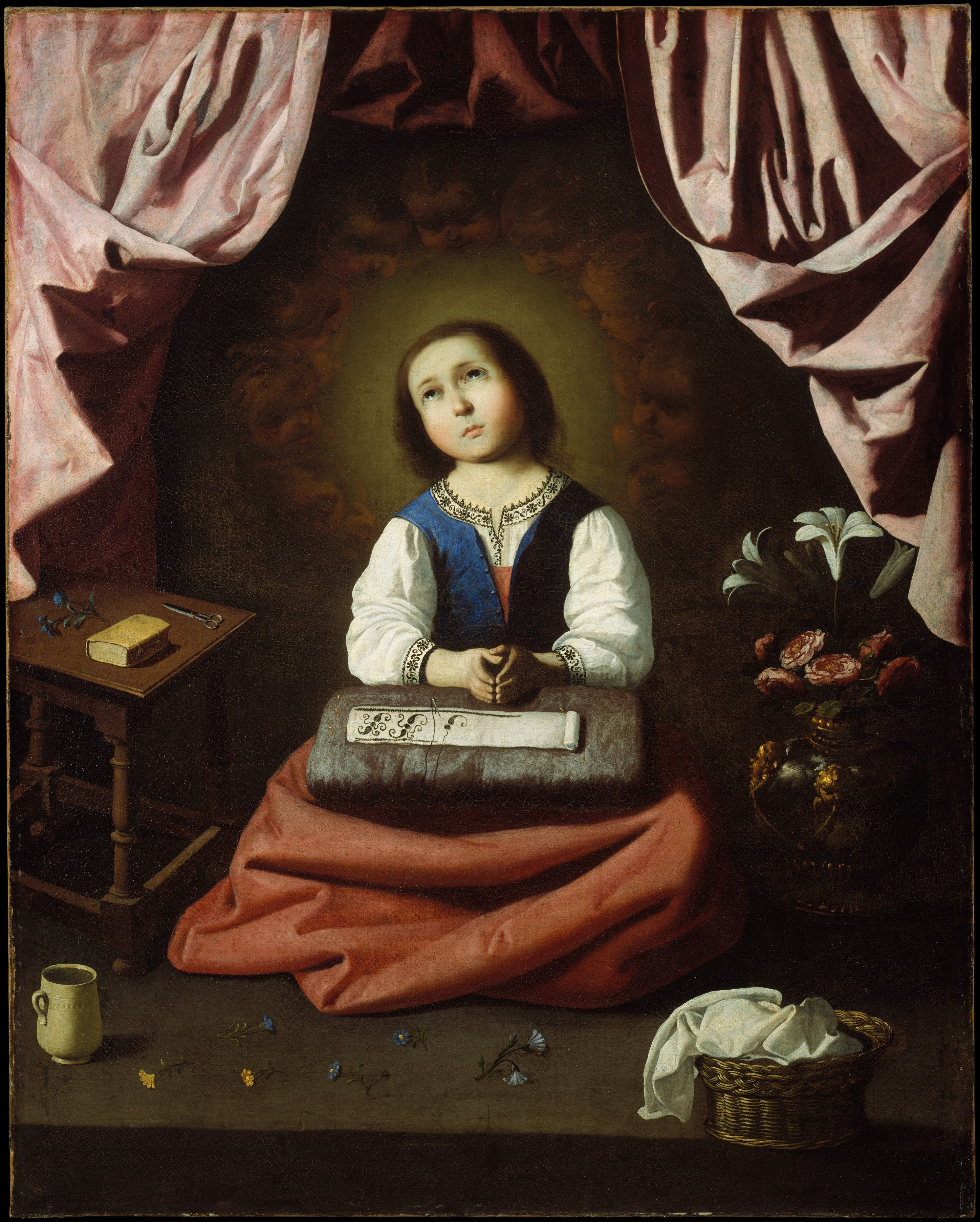 Francisco De Zurbar 225 N The Young Virgin The Met