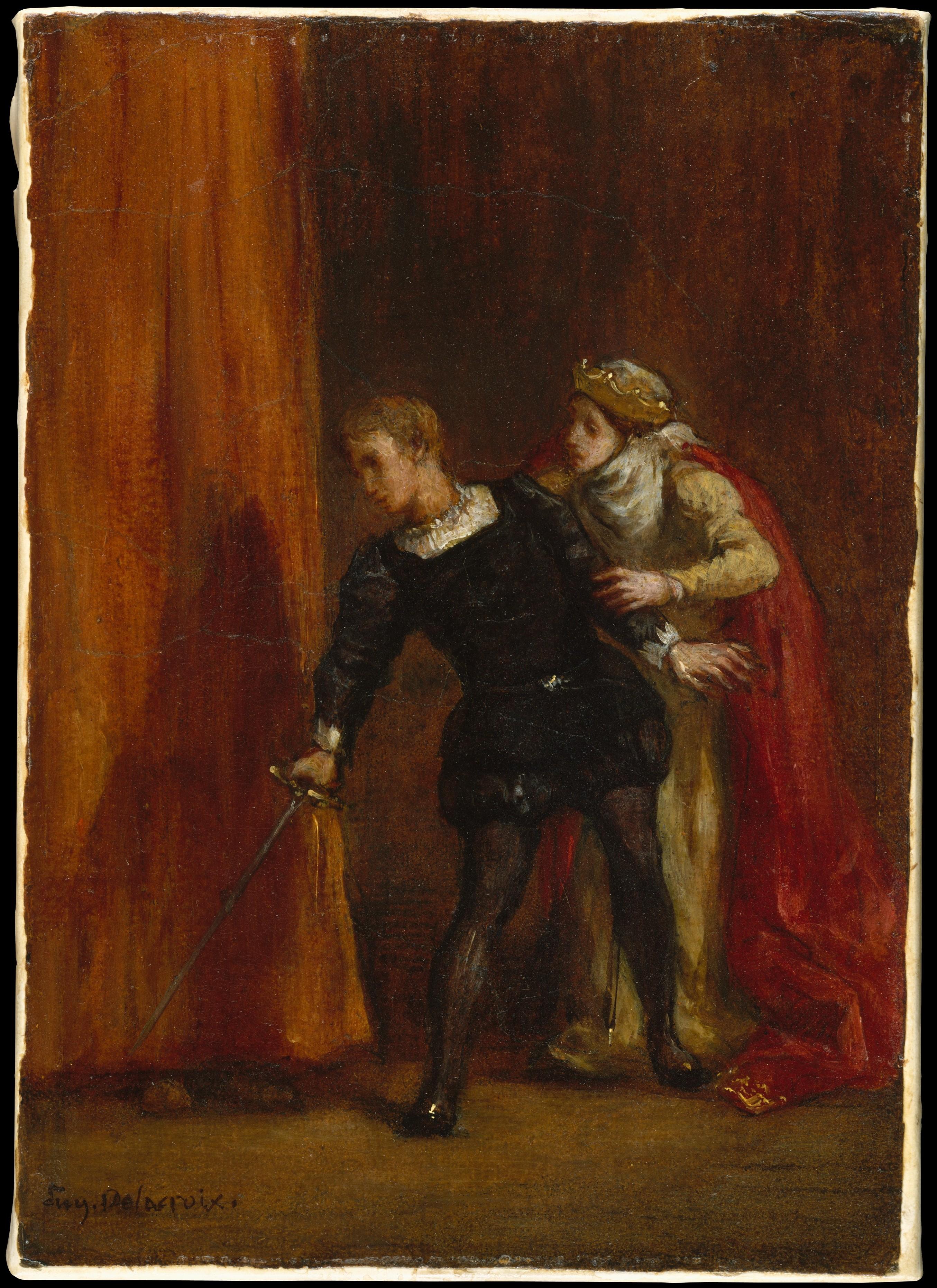 Eugène Delacroix | Hamlet and His Mother | The Met