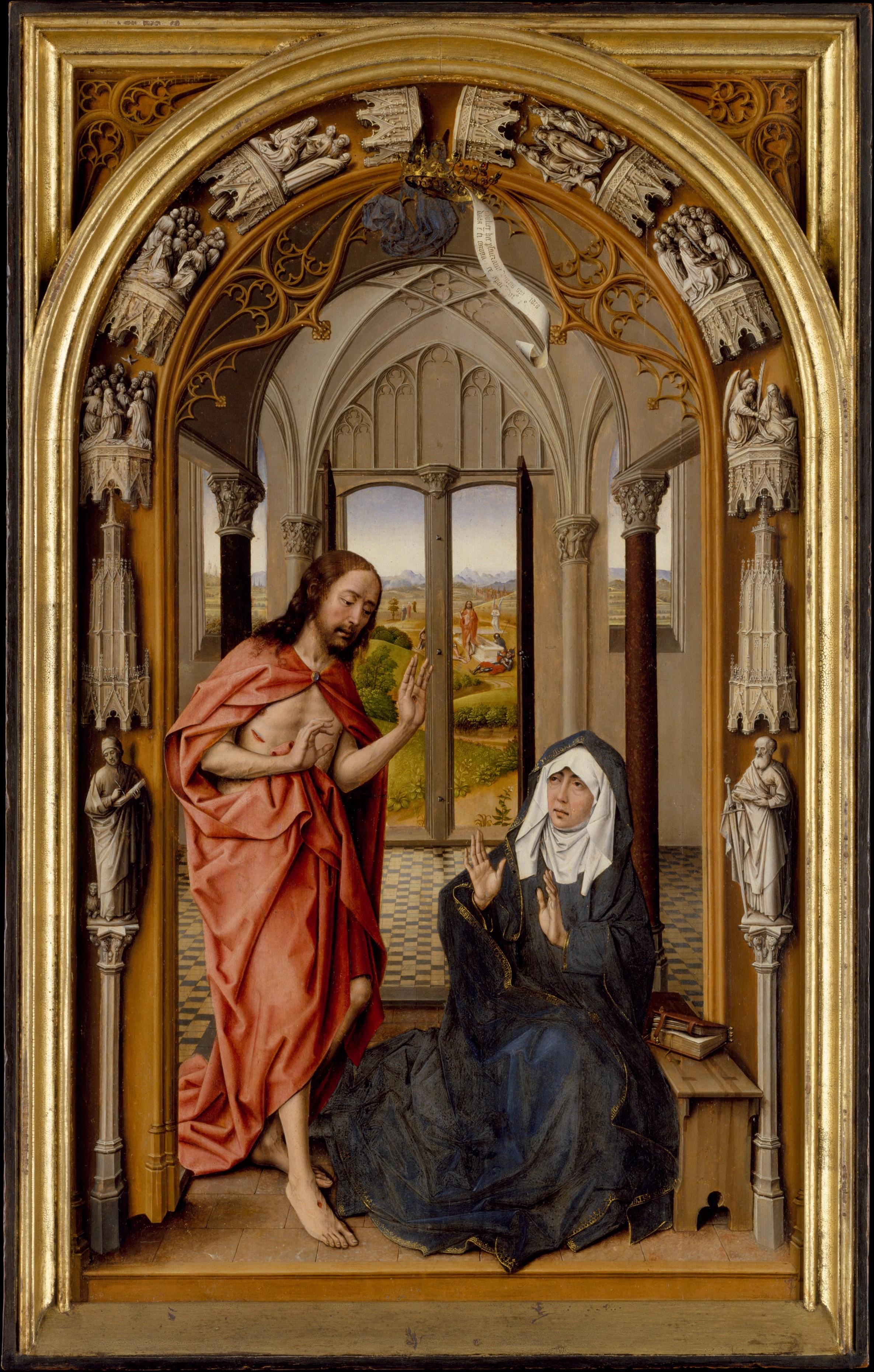 Juan De Flandes Christ Appearing To His Mother The Met