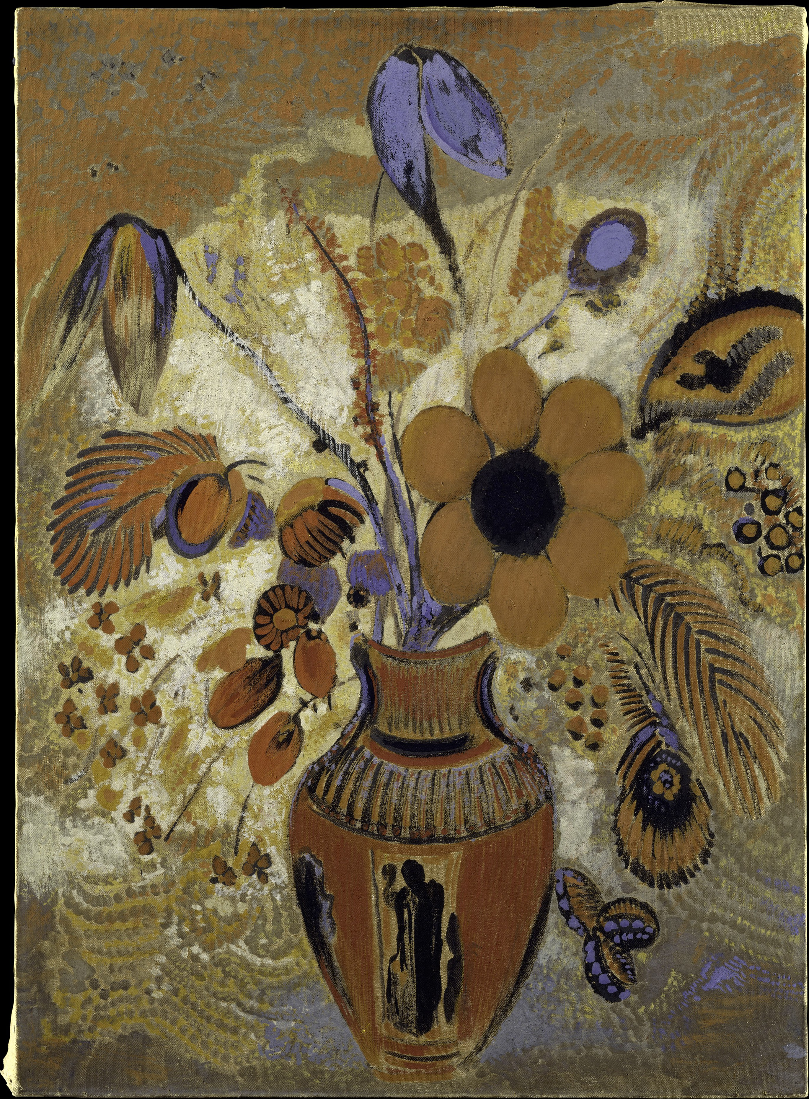 Odilon Redon Etruscan Vase With Flowers The Met