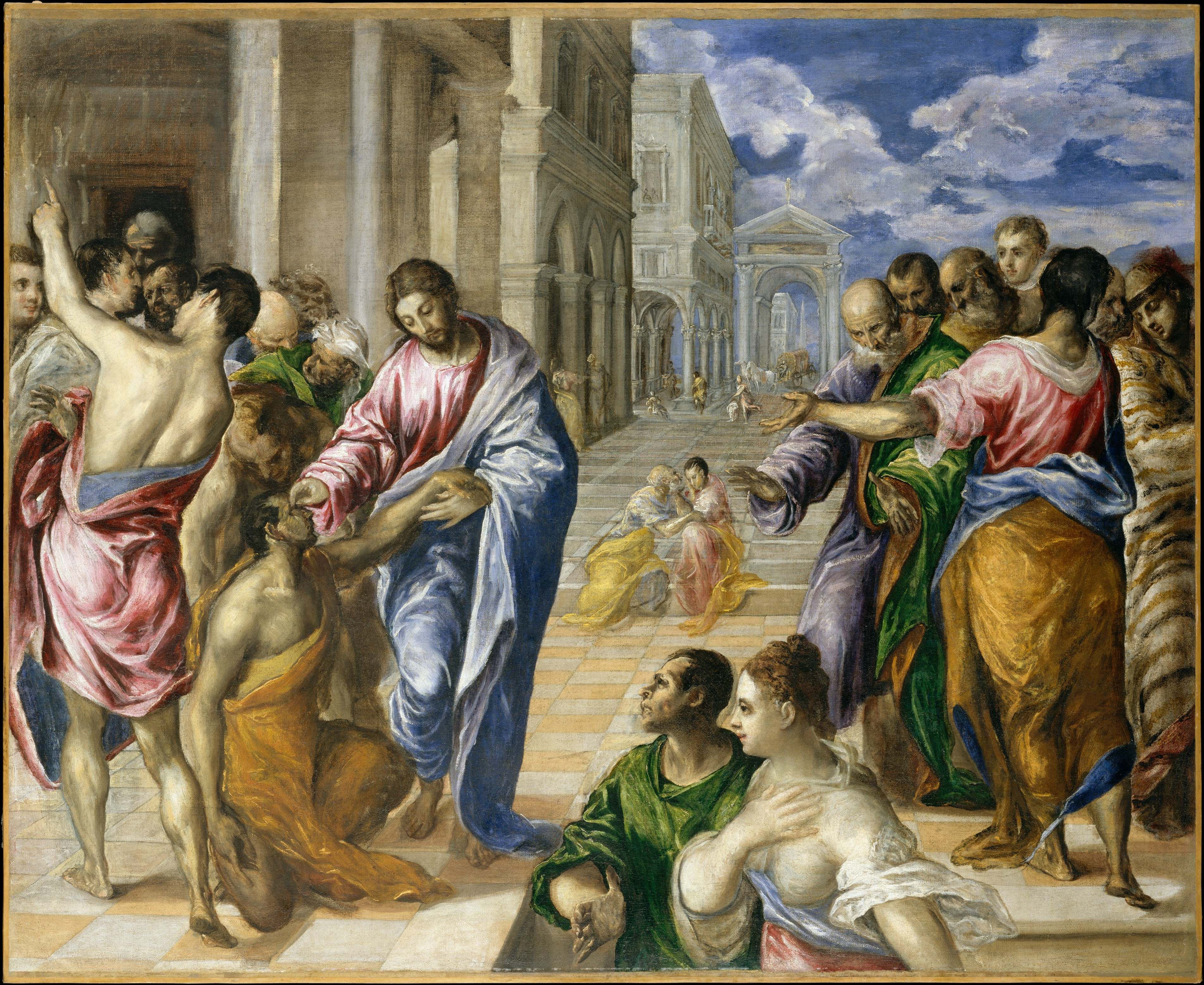 El Greco (Domenikos Theotokopoulos) | Christ Healing the Blind | The Met