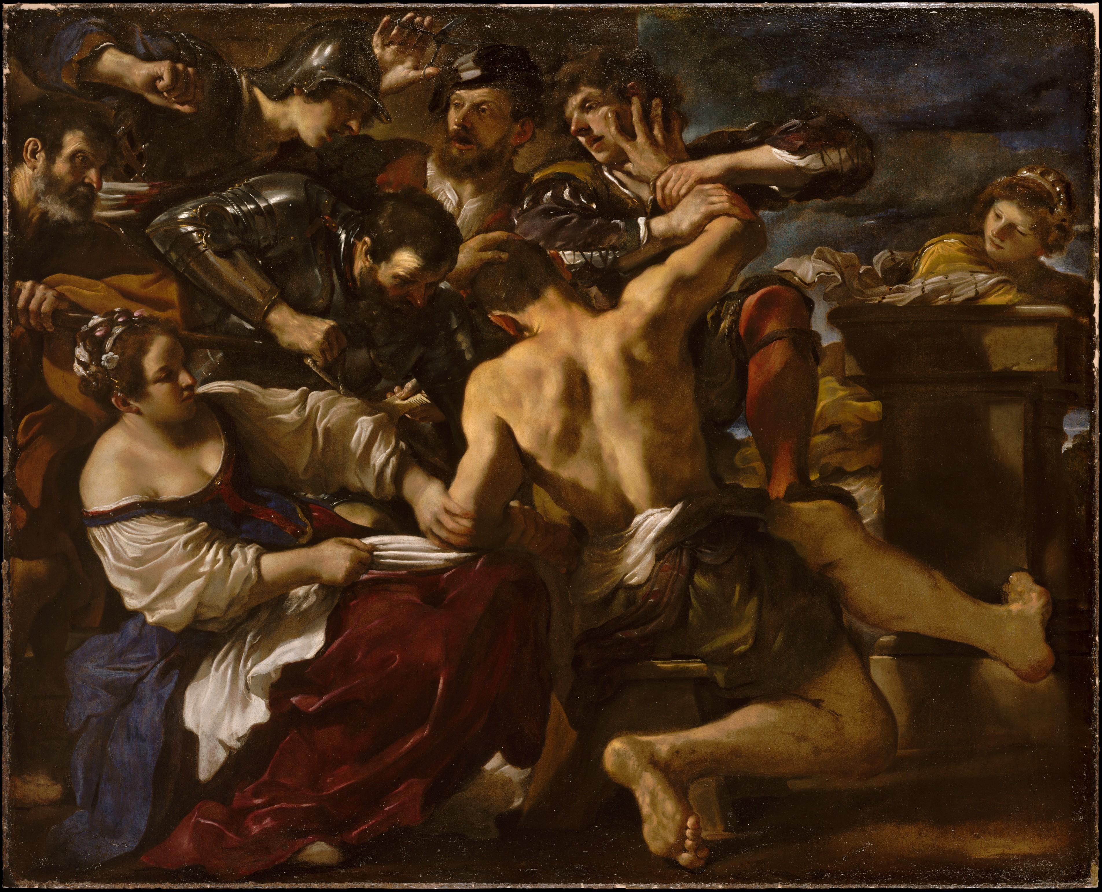 guercino giovanni francesco barbieri samson captured by the