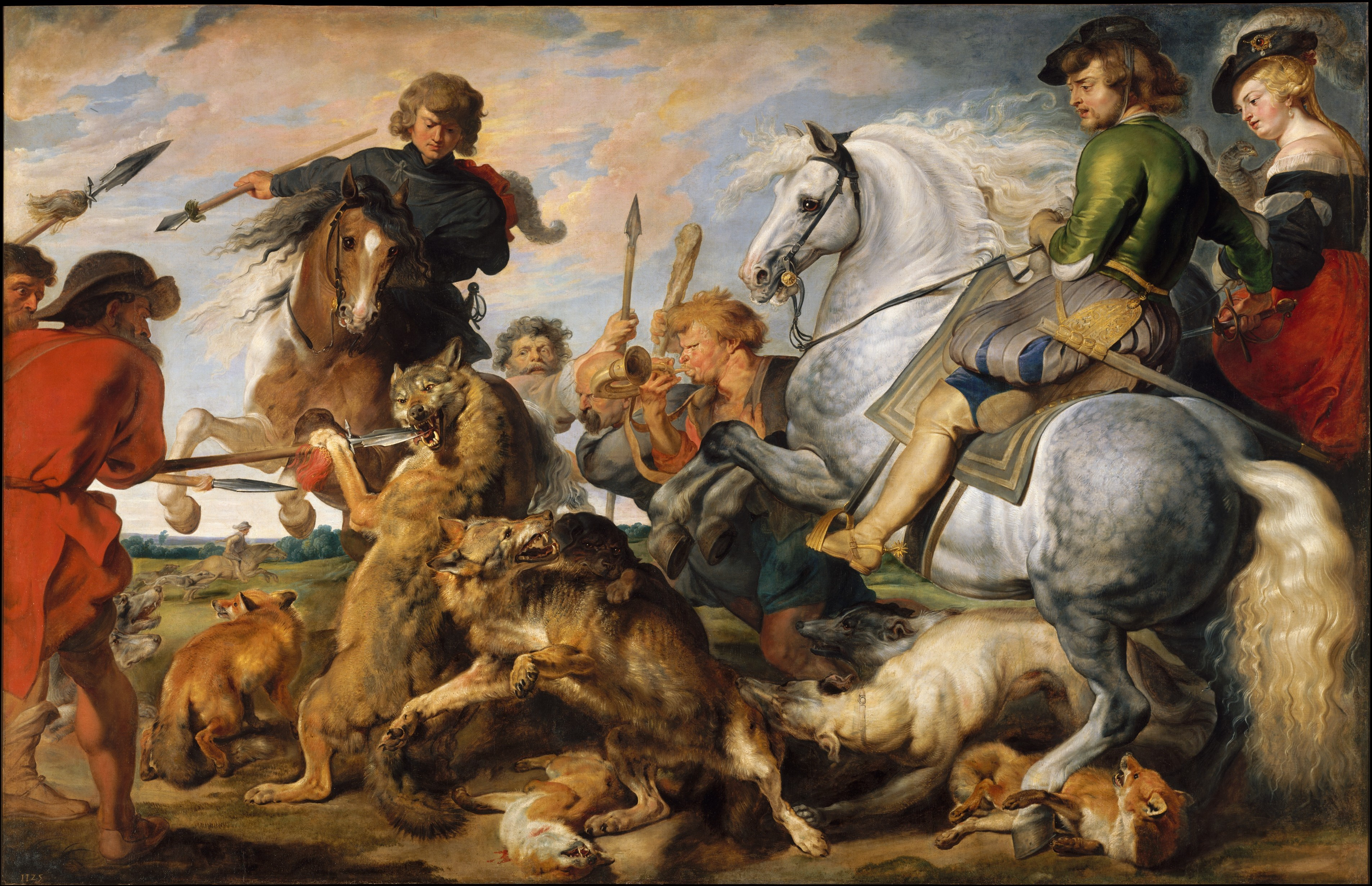 Peter Paul Rubens Wolf And Fox Hunt The Met - The wolf among us road map