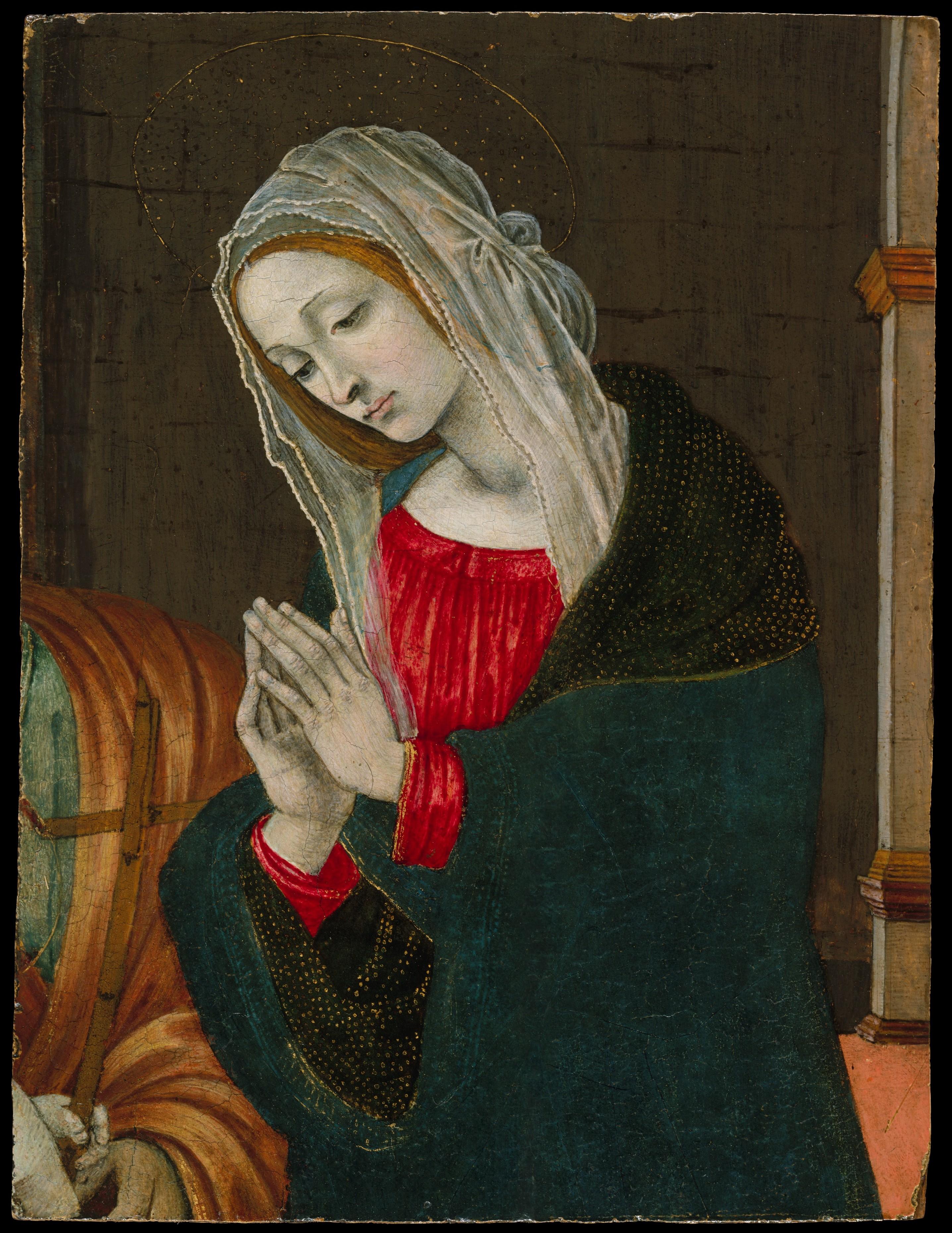 Workshop Of Filippino Lippi The Virgin Of The Nativity