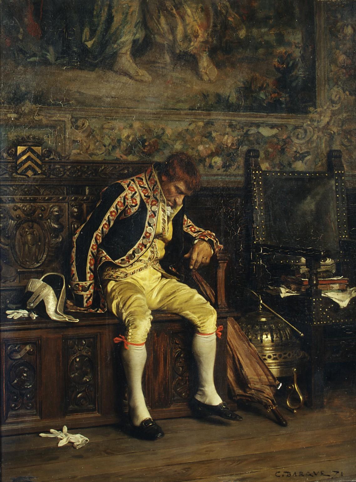 Charles Bargue | A Footman Sleeping | The Met