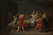 The Death of Socrates, Jacques Louis David (French, Paris 1748–1825 Brussels), Oil on canvas