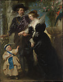 Rubens, His Wife Helena Fourment (1614–1673), and Their Son Frans (1633–1678), Peter Paul Rubens (Flemish, Siegen 1577–1640 Antwerp), Oil on wood