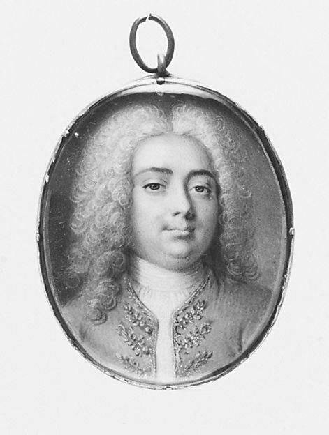 Portrait of a Man, British Painter (ca. 1740), Vellum laid on card