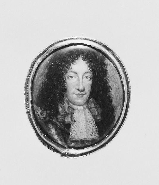 Portrait of a Man, Continental Painter (ca. 1690), Enamel
