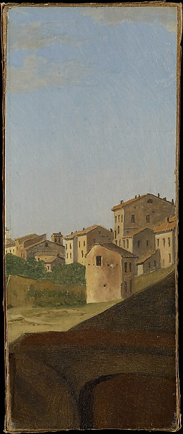Houses, Rome, Gustaf Söderberg (Swedish, Norrköping 1799–1875 Stockholm), Oil on paper, laid down on board