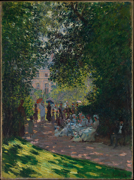 The Parc Monceau, Claude Monet (French, Paris 1840–1926 Giverny), Oil on canvas