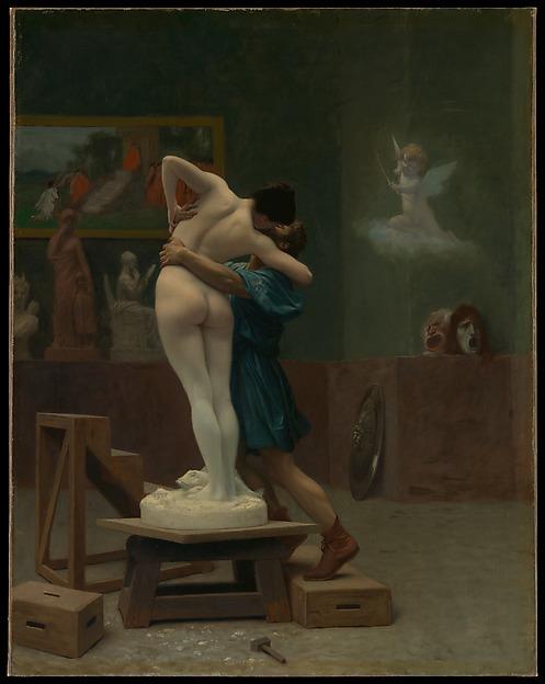 Pygmalion and Galatea, Jean-Léon Gérôme (French, Vesoul 1824–1904 Paris), Oil on canvas