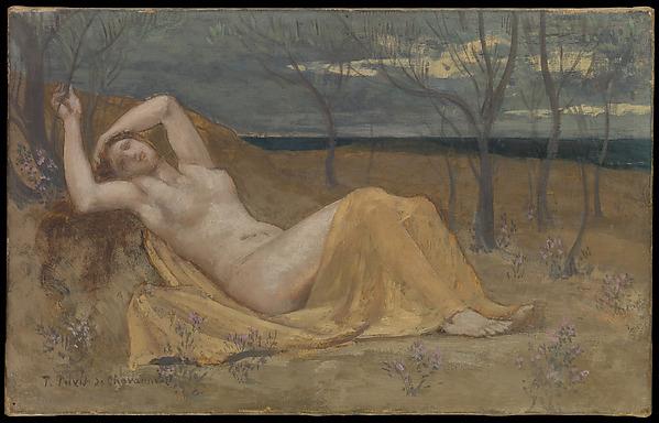 Tamaris, Pierre Puvis de Chavannes (French, Lyons 1824–1898 Paris), Oil on canvas