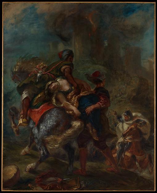 The Abduction of Rebecca, Eugène Delacroix (French, Charenton-Saint-Maurice 1798–1863 Paris), Oil on canvas