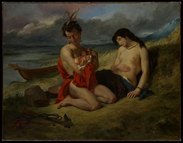 The Natchez, Eugène Delacroix (French, Charenton-Saint-Maurice 1798–1863 Paris), Oil on canvas
