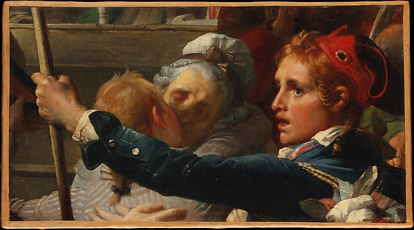 The Nation Is in Danger, or the Enrollment of Volunteers at the Place du Palais-Royal in July 1792, Auguste-Hyacinthe Debay (French, Nantes 1804–1865 Paris), Oil on canvas