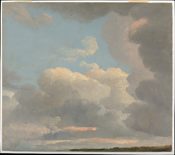 Cloud Study (Early Evening), Simon Denis (Flemish, Antwerp 1755–1813 Naples), Oil on paper