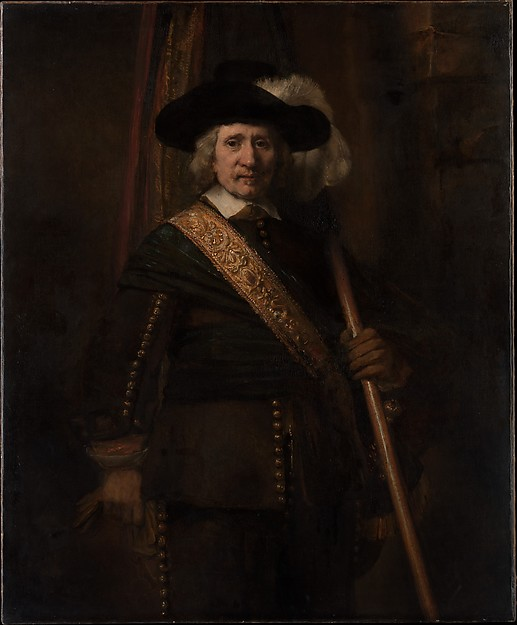 The Standard Bearer (Floris Soop, 1604–1657), Rembrandt (Rembrandt van Rijn) (Dutch, Leiden 1606–1669 Amsterdam), Oil on canvas
