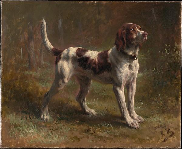 A Limier Briquet Hound, Rosa Bonheur (French, Bordeaux 1822–1899 Thomery), Oil on canvas