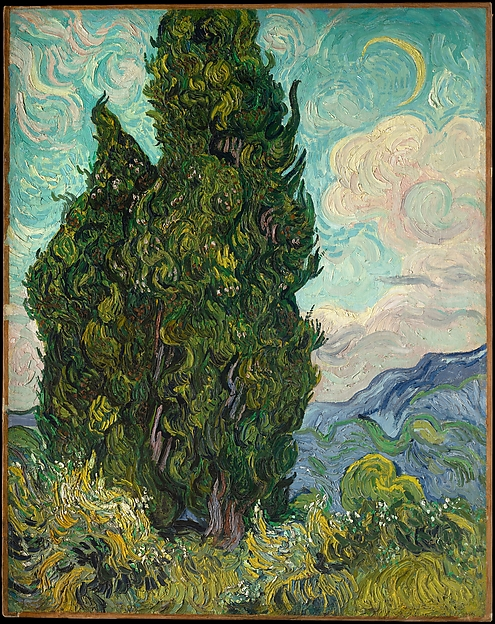 Cypresses, Vincent van Gogh (Dutch, Zundert 1853–1890 Auvers-sur-Oise), Oil on canvas