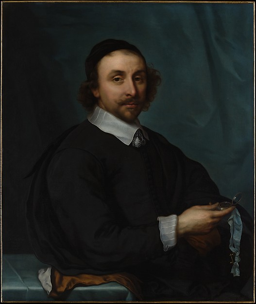Portrait of a Man with a Watch, Cornelis Jonson van Ceulen the Younger (Dutch, London 1634–1715 Utrecht), Oil on canvas
