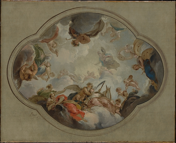 Allegory of the Arts, Jacob de Wit (Dutch, Amsterdam 1695–1754 Amsterdam), Oil on canvas
