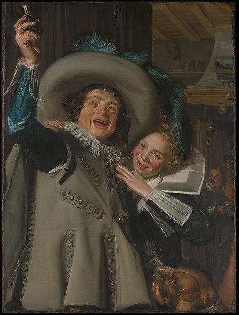 """Young Man and Woman in an Inn (""""Yonker Ramp and His Sweetheart""""), Frans Hals (Dutch, Antwerp 1582/83–1666 Haarlem), Oil on canvas"""