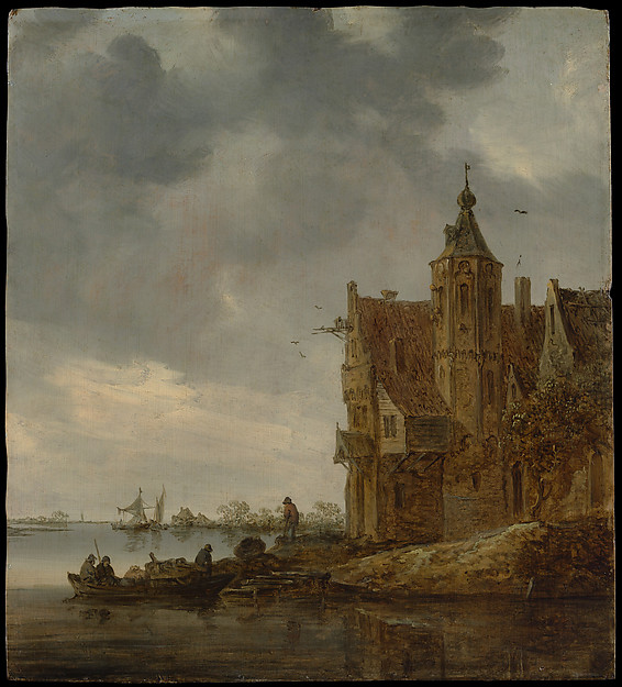 Country House near the Water, Jan van Goyen (Dutch, Leiden 1596–1656 The Hague), Oil on wood
