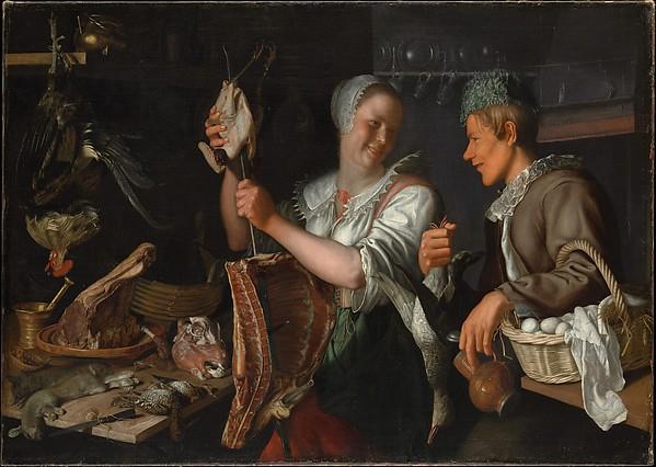 Kitchen Scene, Peter Wtewael (Dutch, Utrecht 1596–1660 Utrecht), Oil on canvas