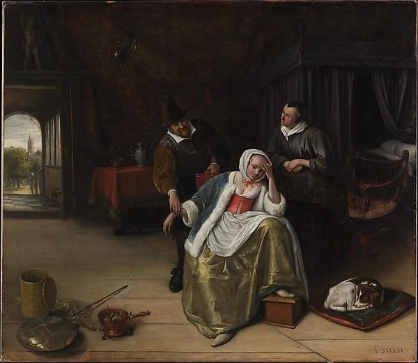 The Lovesick Maiden, Jan Steen (Dutch, Leiden 1626–1679 Leiden), Oil on canvas