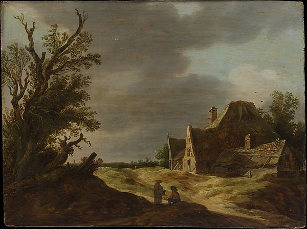 Sandy Road with a Farmhouse, Jan van Goyen (Dutch, Leiden 1596–1656 The Hague), Oil on wood