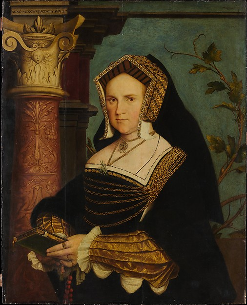 Lady Guildford (Mary Wotton, born 1500), Copy after Hans Holbein the Younger (British, 16th century), Oil and gold on oak