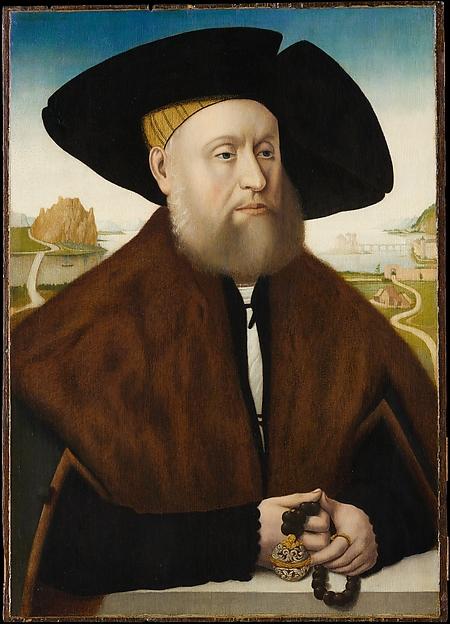 Heinrich(?) vom Rhein zum Mohren (1477–1536), Copy after Conrad Faber von Creuznach, Oil and gold on oak