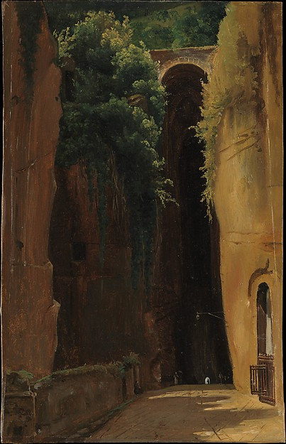 The Grotto of Posillipo, Naples, Gustaf Söderberg (Swedish, Norrköping 1799–1875 Stockholm), Oil on paper, laid down on Masonite